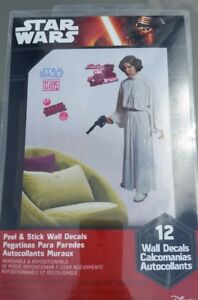 Star Wars classic PRINCESS LEIA wall stickers MURAL decals 54 inches tall decor