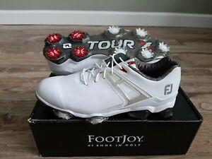 NEW 2021 Footjoy Tour X Mens Golf Shoes 9.5 Medium White