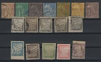 G139437/ FRENCH COLONIES – YEARS 1881 - 1908 USED CLASSIC LOT – CV 135 $