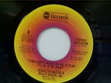 """MARILYN McCOO / BILLY DAVIS JR""""YOU DON'T HAVE TO BE A STAR"""" 45 NEAR MINT"""