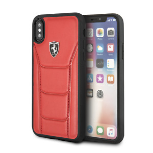 Ferrari Phone Case for iPhone X and iPhone XS Real Leather Case Drop Protection