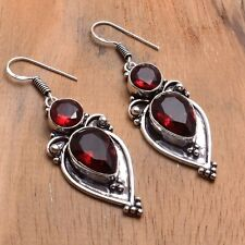 "Jewelry 2"" Ae 84533 Garnet Handmade Drop Dangle Earrings"