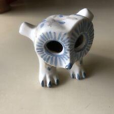 S Thompson Studio Pottery White Standing Owl Figurine Strawberry Hill Era Canada