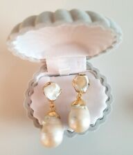 18K Gold Plated Freshwater Baroque Pearl Teardrop Earrings Other Bloggers...