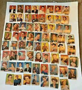 68 Different 1953 Topps Who-Z-At Star Movie Star Celebrity Cards See Pictures