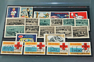 CZECHOSLOVAKIA - RANGE OF CINDERELLAS/LABELS - MUCH TRANSPORT RELATED 1950's