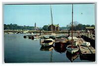 View of Harbor Scene, Lake Carmel NY c1970 Chrome Postcard L15