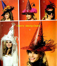 Butterick Sewing Pattern Costume Hat Mask Party Witch Wedding Adult UNCUT 5406