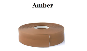 Amber  SKIRTING BOARD PVC FLEXIBLE - SELF ADHESIVE PVC 5m - 25m linear metres