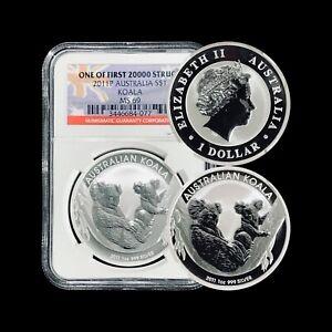 2011 Australia Dollar (Silver) - NGC MS69 (Superb Gem UNC) Koala
