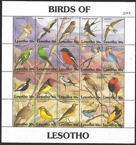 "Lesotho Birds Minisheet ""Birds of Lesotho"" 30c of 20 Superb MNH"