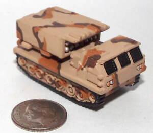 Small Mini Hot Wheels Plastic M-270 MLRS in Desert Camouflage