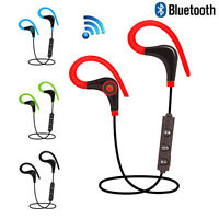 Sport Headset Headphone Earphone Stereo Wireless Bluetooth for iPhone Samsung LG