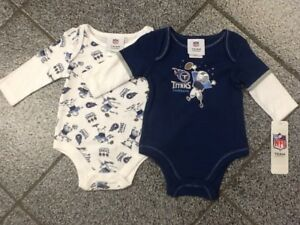 12 Months New NFL Tennessee Titans 2-pack infant Baby BOYS GIRLS newborn outfit