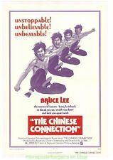THE CHINESE CONNECTION MOVIE POSTER Original Folded V.Fine 27x41  BRUCE LEE 1973