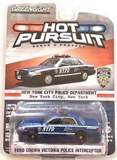 2016 GreenLight HOT PURSUIT NYPD 2015 FORD CROWN VICTORIA POLICE INTERCEPTOR!