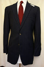 NWT Brooks Brothers 1818 Madison Blue Pinstripe Wool Suit 39L MSRP $998