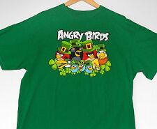 ANGRY BIRDS XL St. Patrick's Day Leprechaun Irish Shamrock Green Cotton NWOT