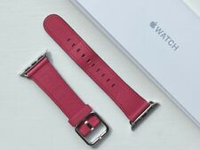 Apple Watch Leather Classic Buckle Strap 38/40mm PINK FUSCHIA 2017 **RARE**