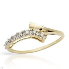 STUNNING SOLID 10K YELLOW GOLD GENUINE DIAMOND RING 7 U$620