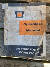 Oliver 74 Tractor Myd Corn Picker Operator Manual