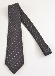 Armani Collezioni NWOT Neck Tie In Black Geometric Stripes Silk Cotton