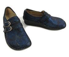 Alegria 6 - 6.5 36 Alli Twist 741 Blue Metallic Professional Nurse Clogs Shoes