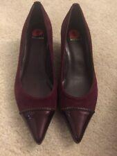 New Stuart Weizmann ziptip patent and Suede Leather heels Size 6 M $380
