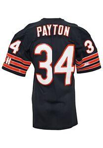 1980s Walter Payton Game Worn Chicago Bears Jersey JSA Grey Flannel LOA Repairs!
