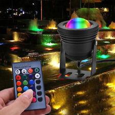 12V 5/10W RGB LED Lámpara proyector de Acuario para Piscina Estanque Jardín Submarino Decoración