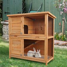 "36"" Small Pet Cage Rabbit House Chicken Coop Deluxe Small Animal Shed Wood Hutch"