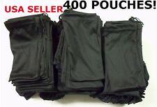 Cheap Bulk Lot 400 Black Micro Fiber Sunglasses Carrying Pouch Case Bag Sleeve