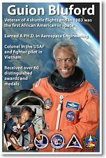 Guion Bluford - NEW NASA African American Astronaut Space Exploration POSTER
