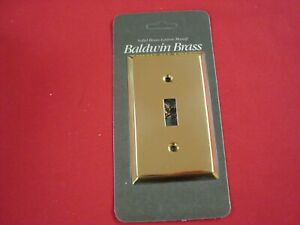 New One BALDWIN BRASS Single Toggle switch plate cover 4751 Solid BRASS sealed