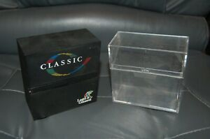 """2 x Vintage storage plastic boxes for floppy disk (3.5"""") BLACK and CLEAR"""