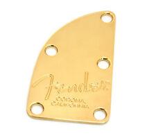 Genuine Fender Gold USA 5-String Bass 5-bolt Neck Plate w/Screws 005-8339-000