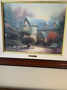 Thomas Kinkade BLESSINGS OF SPRING Framed Canvas 28.75 x 25 69 of 685 G/P Canvas