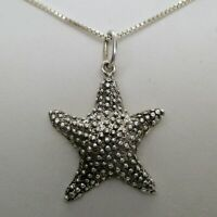 Sterling Silver STARFISH Pendant for Necklace CHARM for Bracelet BEACH JEWELRY