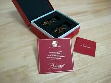 Baccarat - Chopstick Rests - French Crystal - Rats - Limited Edition - NIB