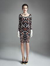 Temperley London Multicolor Animal Juno Classic Sample Dress SIZE S   #