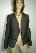 LAUREN VIDAL Size XL 16 GREY Designer Jacket Zip Detail Stylish NEW w/tags $335