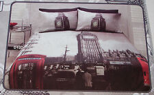 London Town Big Ben Printed Single Bed Quilt Cover Set New