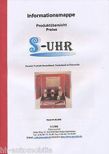 Prospekt (Informationsmappe) S-Uhr - Perrelet 1.6.92 (D) brochure wrist watches