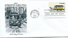 1983 American Streetcars Series Bobtail Artmaster Cachet Unaddressed Fdc