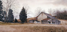 Farm on the Hill by Ray Hendershot Landscape Art Print Barn Country Poster 36x22