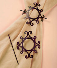 The Lakeside Collection Set of 2 Scroll Curtain Tie-Backs