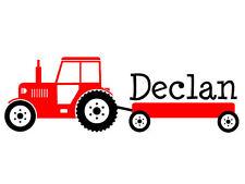 Boys Tractor Name Monogram Decal #3 Nursery Room Vinyl Wall Decal Graphics Boys