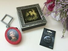 Twilight LOT Edward NECA Pewter Jewelry Trinket Box, Jacob BK Clip & Button Pin