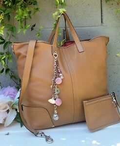Coach 28915 rare XL hadley duffle smooth leather weekender purse Shoulder tote
