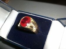 10 Carat Ruby Yellow Gold Oval Fine Gemstone Rings